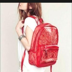 BLACK Free People Hiptipico Lexi leather backpack